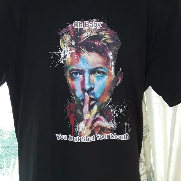 5fb69f48 Tops | One Of A Kind David Bowie Short Sleeve Tee Xl | Poshmark
